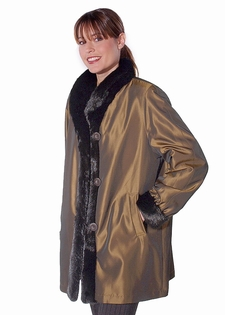 Fur Jacket, Sheared Mink Jacket, Reversible Fur Jacket Coat ...
