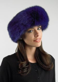 Fur Headband - Deep Purple Fox