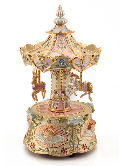 Carousel Music Box - Revolving Horse Carousel