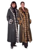 Chinchilla or Sable Trimmed Fur Lined Coat