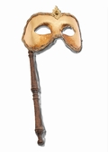 Crested Gold  Music Mask with Wand