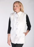 White Fur Vest - White Rabbit Fur Vest
