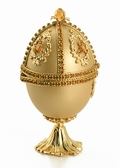 Jeweled Collectible Egg - Topaz Swarovski Crystal