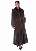 Classic Wing Collar-Female Mahogany Mink Fur Coat
