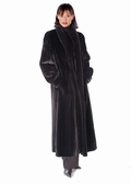 Classic Mink Mandarin Collar-Female Mink Fur Coat