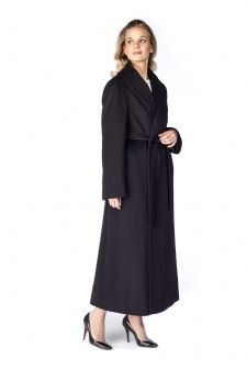 Black Wool Wrap Coat Loro Piana™ Shawl Collar 52