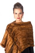 Golden Knitted Mink Wrap Shawl-Roses and Ruffles