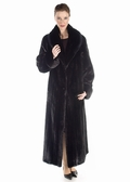 Classic Shawl Female Ranch Mink Coat