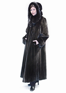 Mink Coat - Scalloped Hood and Collar