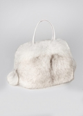 Fur Bag - Blue Fox Fur Handbag Pocketbook