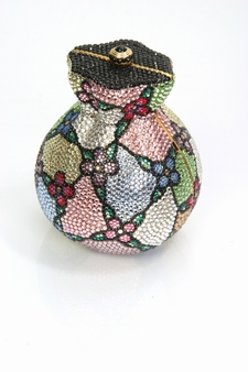Evening Handbag - Swarovski Crystals Vase Shaped