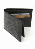 Mens Leather Wallet - Crocodile Bidente Leather