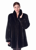Mink Jacket - Ranch Mink Classic Wing Collar