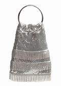 Evening Bag -Silver Mesh Soft Mesh Handbag
