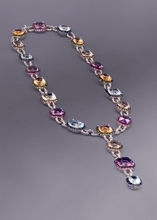 Jeweled Diamond Necklace