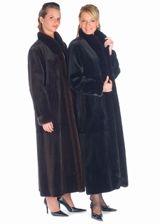 Sheared Mink Coat Reversible to Fabric