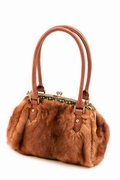 Golden Dyed Mink Handbag - Elegance in Mink