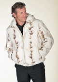 Mens Mink Jacket - Winter Birch Mink