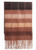 Alashan Brown Colorblocks Cashmere Scarf