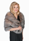 Crystal Fox Fur Cape