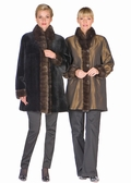 Reversible Mink Jacket with Sable Trim