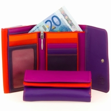 MyWalit Double Flap Ladies Purse Wallet-Sangria