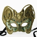 Party Mask - Celadon Green Velvet Creation