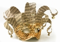 Gold Music Mask - Venetian Musical Jolly Mask