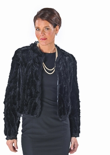 Mink Short Jacket - Ribbons and Lace