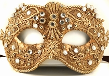 Jeweled Party Mask - Gilded Venetian Mask