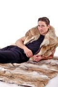 Coyote Fur Throw - Coyote Blanket Throw