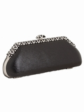 Black Lizard Evening Bag-Art Deco Swarovski Clasp