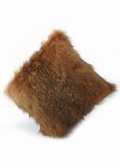 Fur Pillow-Knitted Golden Fur Pillow