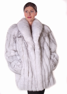 Blue Fox Natural Fox Fur Jacket - 29
