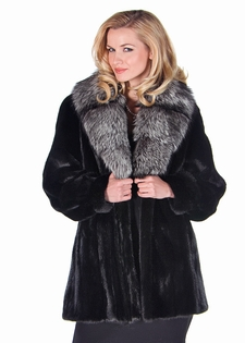 Silver Fox Shawl Collar - Ranch Mink Jacket