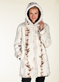 Hooded Mink Jacket - Winter Birch Mink