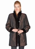 Mahogany Mink Reversible Jacket with Mink Trim
