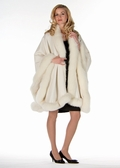 Cashmere Cape-Winter White Fox Trimmed - Majestic