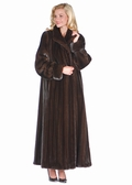 Deluxe Mahogany Mink Fur Coat-Turn Back Cuffs