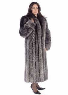 Silver Fox Fur Coat | Womens Fur Coats | Madison Ave Mall