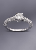 Diamond Engagement Ring - All Diamond Sides