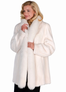 White Coat With Fur