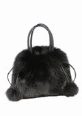 Fur Bag - Black Fox Fur Handbag Pocketbook