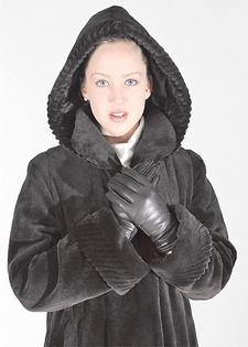 Sheared Mink Coat with Detachable Hood