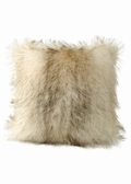Fur Pillow-Knitted Cream Fur Pillow