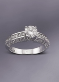 Diamond Ring - 3/4 Carat Round Diamond
