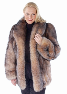 Crystal Fox Fur Jacket