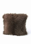 Fur Pillow-Knitted Soft Brown Pillow