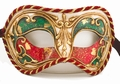 Multicolored Gilt Mask - Venetian Columbina Mask