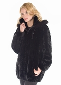 Mink Parka - Zippered Sculptured Mink